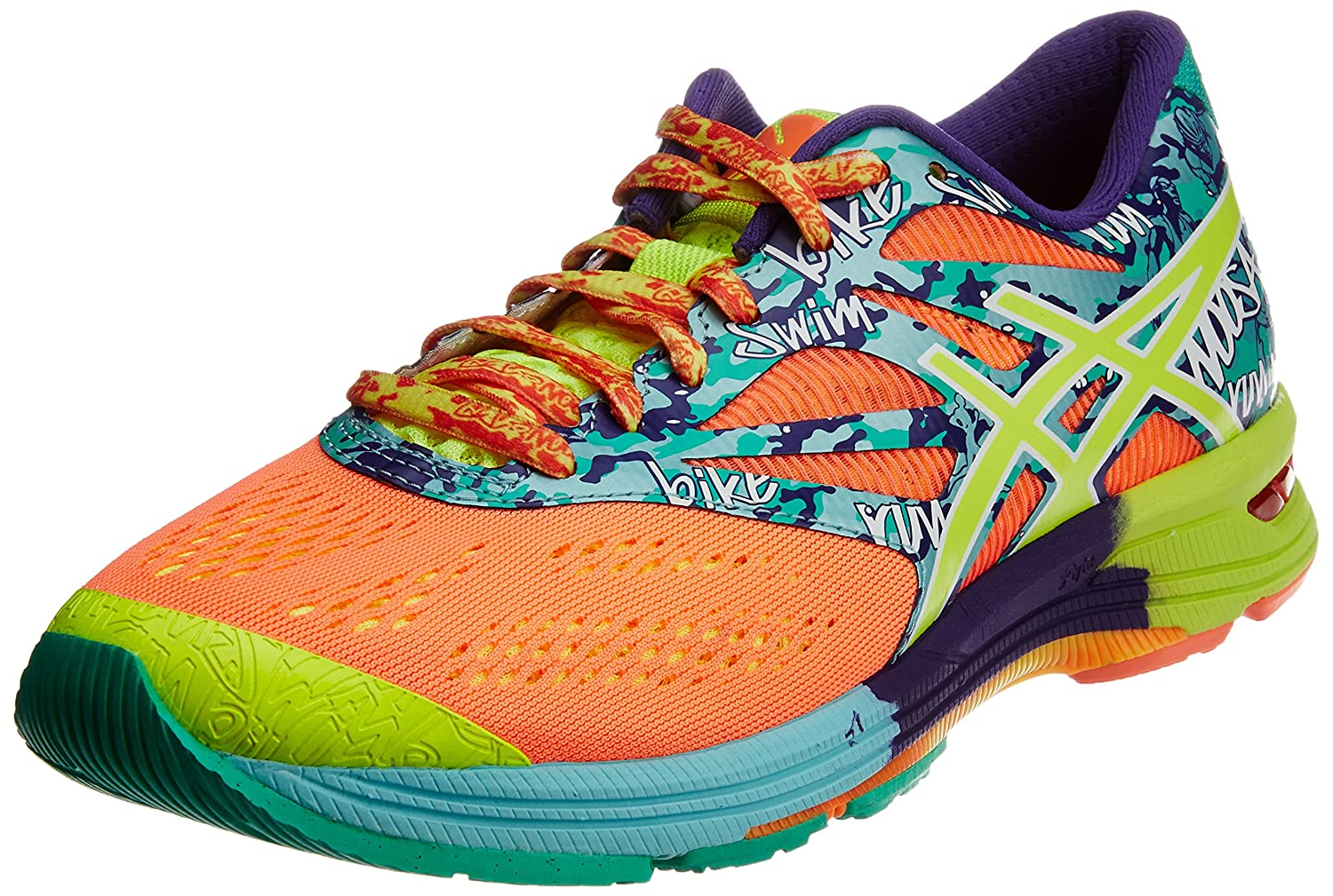 ASICS Women's Gel-Noosa Tri 10 Flash Coral, Flash Yellow and Ice Blue Mesh  Triathlon Shoes - Running Shoes -4 UK/India (37 EU)(6 US): Amazon.in: Shoes  & ...