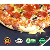 Chef Oven Liner - Set of 3 Large Non-Stick Reusable Teflon Liners For Oven Gas Electric, Microwave Toaster Ovens Use as Oven Mat BBQ Grill Mat Baking Sheet and Pan Liner PFOA Free