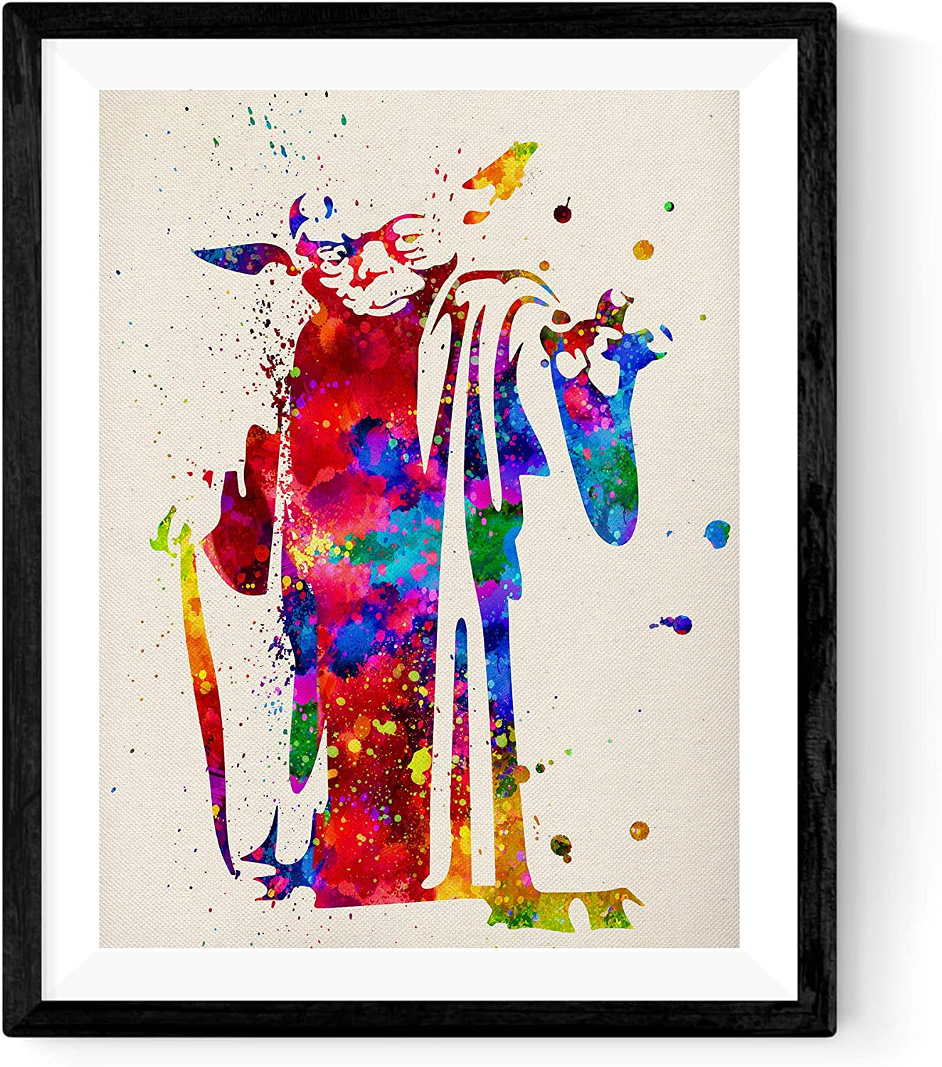 Nacnic Prints Yoda Star Wars Character - Set of 1 - Unframed 11x17 inch Size - 250g Paper - Beautiful Poster Painting for Home Office Living Room