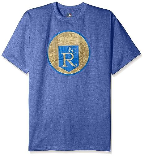 7507c566f Amazon.com : MLB Kansas City Royals Men's Short Sleeved Graphic T-Shirt,  3X, Royal Heather : Sports & Outdoors
