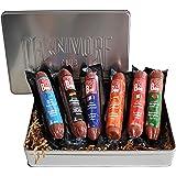 Carnivore Club 6-Pack Salami Sampler Taste of Europe - Comes in Premium Gift Tin Box - Meat Sampler Gourmet Food Gift Basket