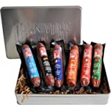 Carnivore Club 6-Pack Salami Sampler Taste of Europe - Comes in Premium Gift Tin Box - Meat Sampler Gourmet Food Gift…
