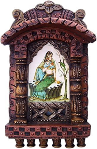 Handicraft Store Lady Enjoying with Parrot, Rajasthani Traditional Jarokha