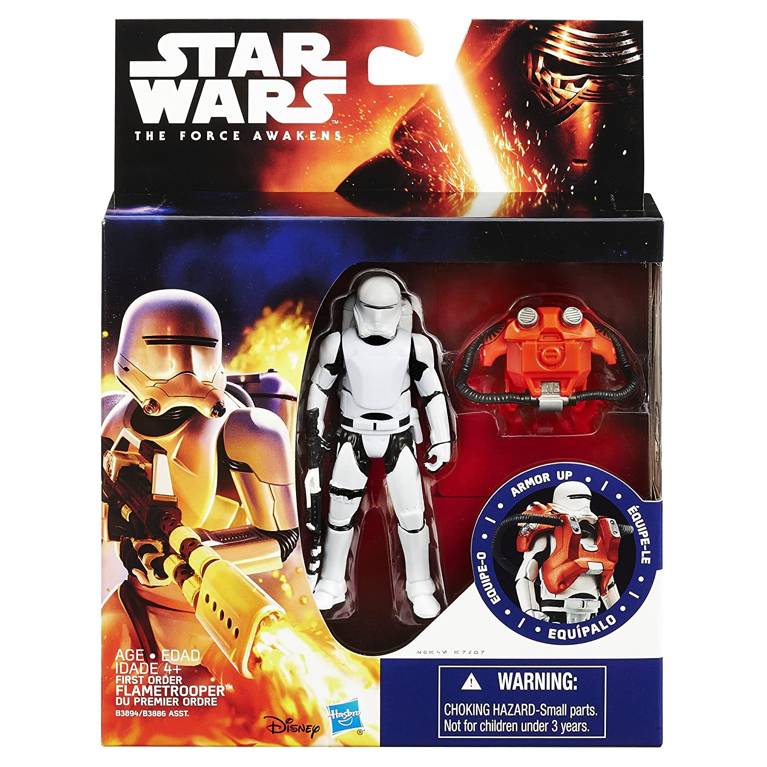 Star Wars The Force Awakens 3.75-Figure Space Mission Armor First Order Flametrooper Hasbro B3894AS0