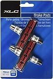 Diverse XLC V- Pastillas de freno bicicleta BS-V01, pack 4 unidades, 70 mm, negro/rojo