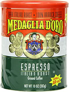 Medaglia DOro Italian Roast Espresso Coffee, 10 Ounce (Pack of ...