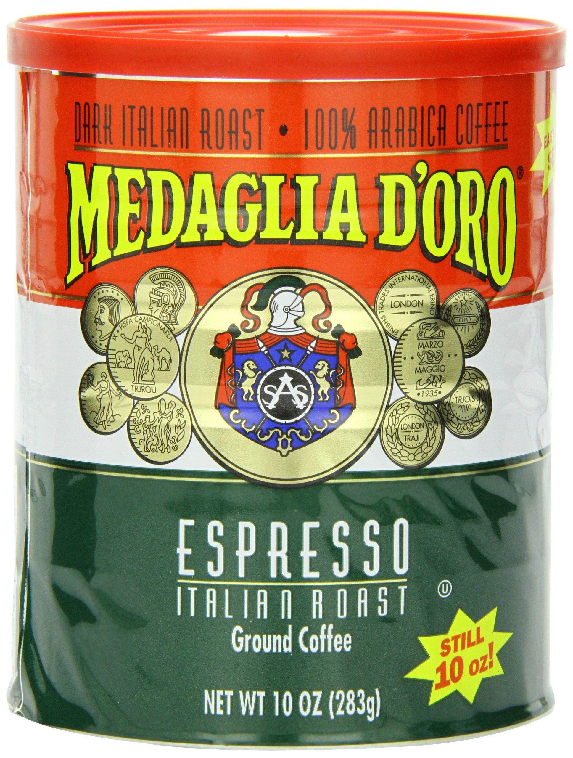 Medaglia DOro Italian Roast Espresso Coffee, 10 Ounce (Pack of ...