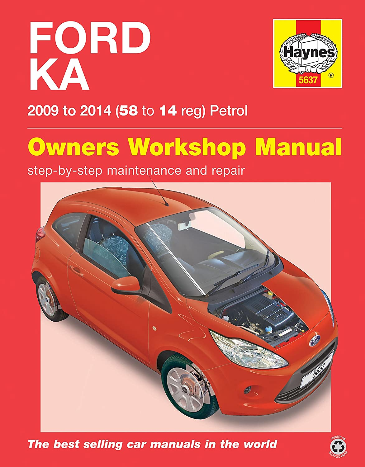 Ford Ka Repair Manual Haynes Manual Service Manual Workshop Manual  2009-2014: Amazon.co.uk: Car & Motorbike