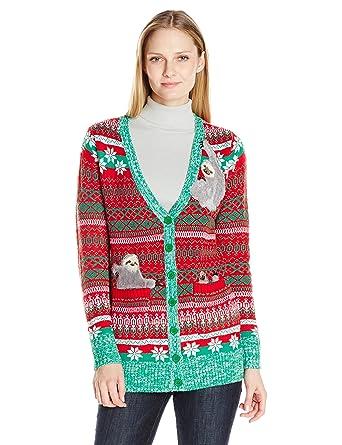 Blizzard Bay Womens Sloth Cardigan Ugly Christmas Sweater Amazon