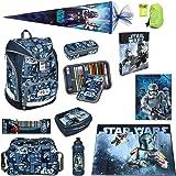 Star Wars Schulrucksack Set 12tlg. Federmappe gefüllt, Sporttasche, Schultüte 85cm Scooli Ranzen Twixter SWLS7550