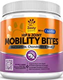 Glucosamine HCL + Chondroitin Sulfate & MSM - Hip & Joint Treats for Dogs with Arthritis Pain - Chewable Mobility Bites With All Natural Immune & Cardiovascular Support for Pets - 90 Soft Chews