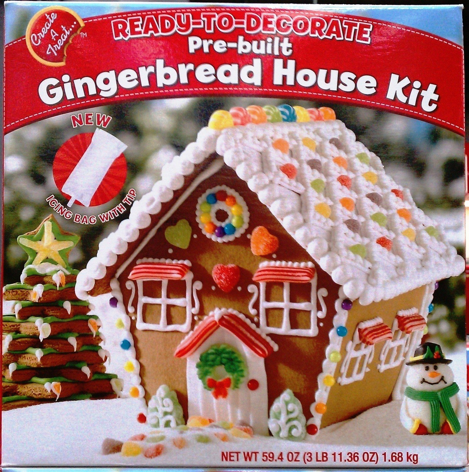 Ready to Decorate Prebuilt Gingerbread House Kit 59.4 Oz