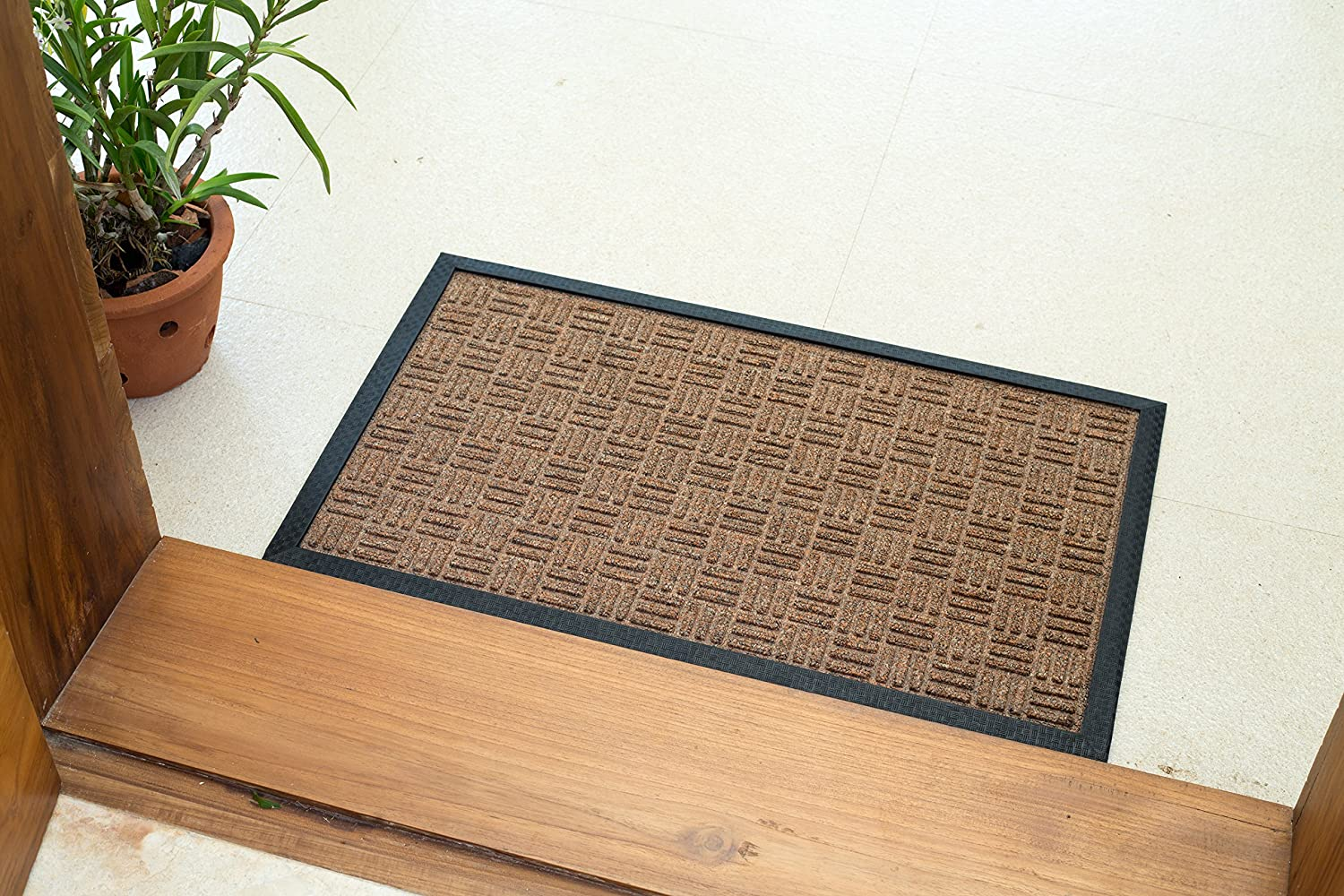 Amazon.com : Iron Gate - 2 Pack Gatekeeper Doormat 24x36 Dark Grey ...