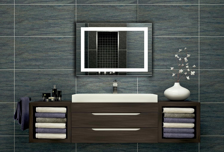 Bilderdepot24 Beleuchteter LED Wandspiegel Badspiegel Spiegel - 80x60 cm Z-LED