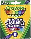 Crayola 678542997685 8 只装超清洁可洗大号蜡笔*大色(3 支装)