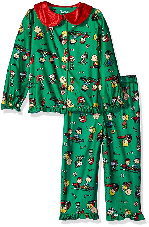 Peanuts Toddler Girls' Kids Holiday Pajamas