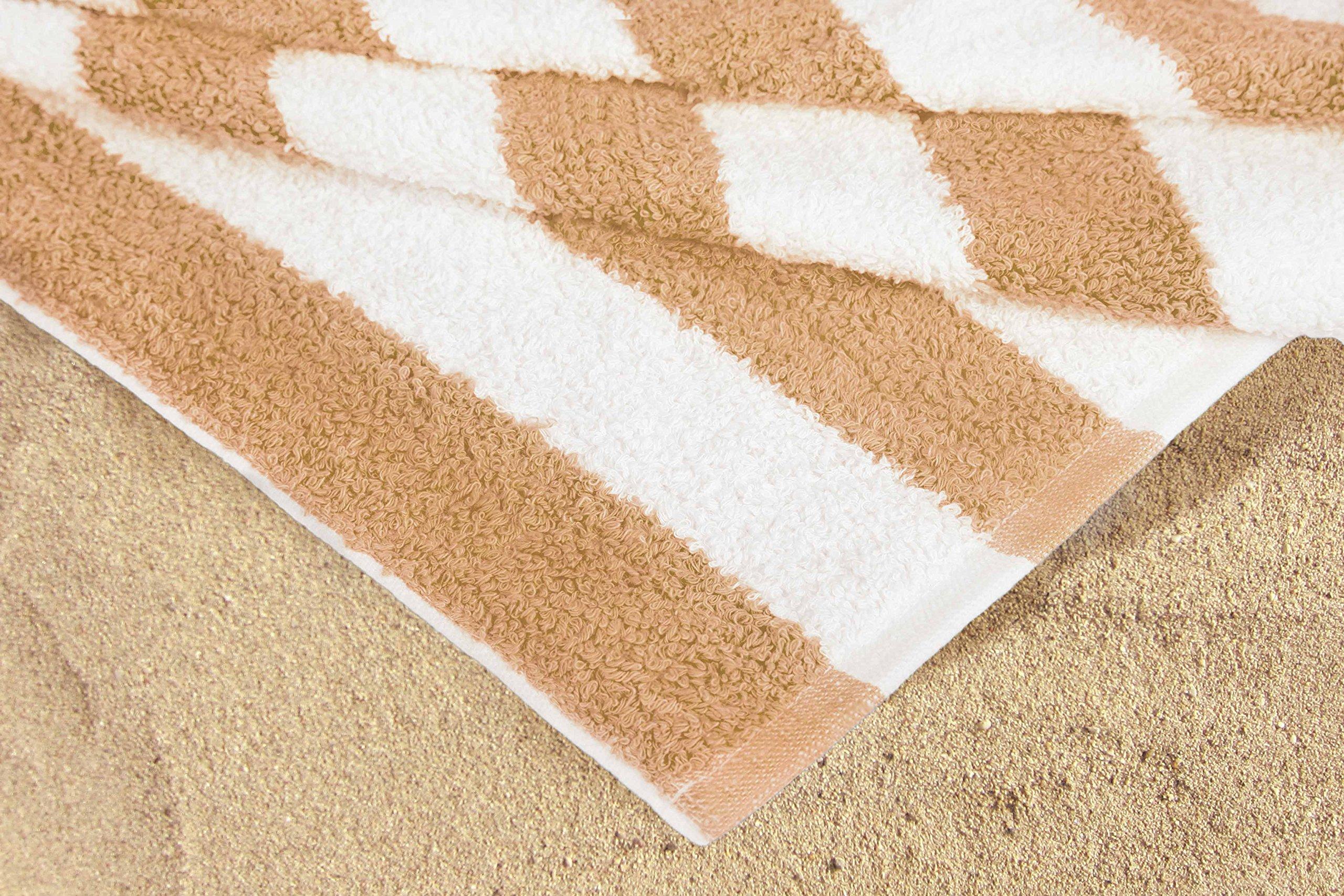 Cabana Stripe Towel - close up