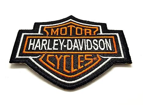 Harley Davidson en todo naranja Bar & Shield Logo   bordado ...