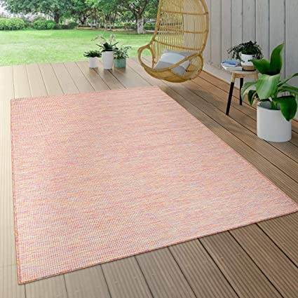 Outdoor Rug Balcony Terrace Grey Pink Green Pastel Colours Flat Weave Size 120x160 Cm Colour Multicolored Amazon Co Uk Kitchen Home
