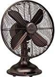 "Hunter 90406 12"" RETRO Fan with Oil Rubbed Bronze Finish"