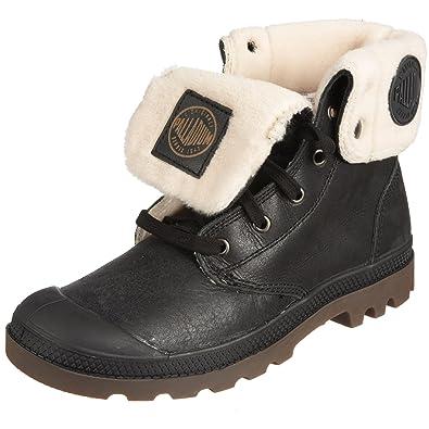 Men s Palladium Baggy Leather Boots Black Pilot Shoes