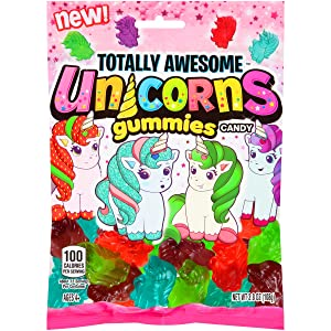 Totally Awesome Unicorns Gummies Flavors, Assorted 12 Count