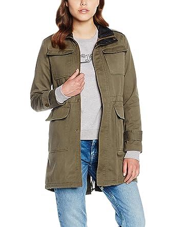 Pepe Jeans Damen Barzie Mantel, Grün (Khaki Green 765), 36 (Herstellergröße 416d90d721