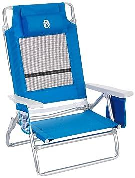 Coleman M293501 - Silla reclinable para la playa en 5 posiciones