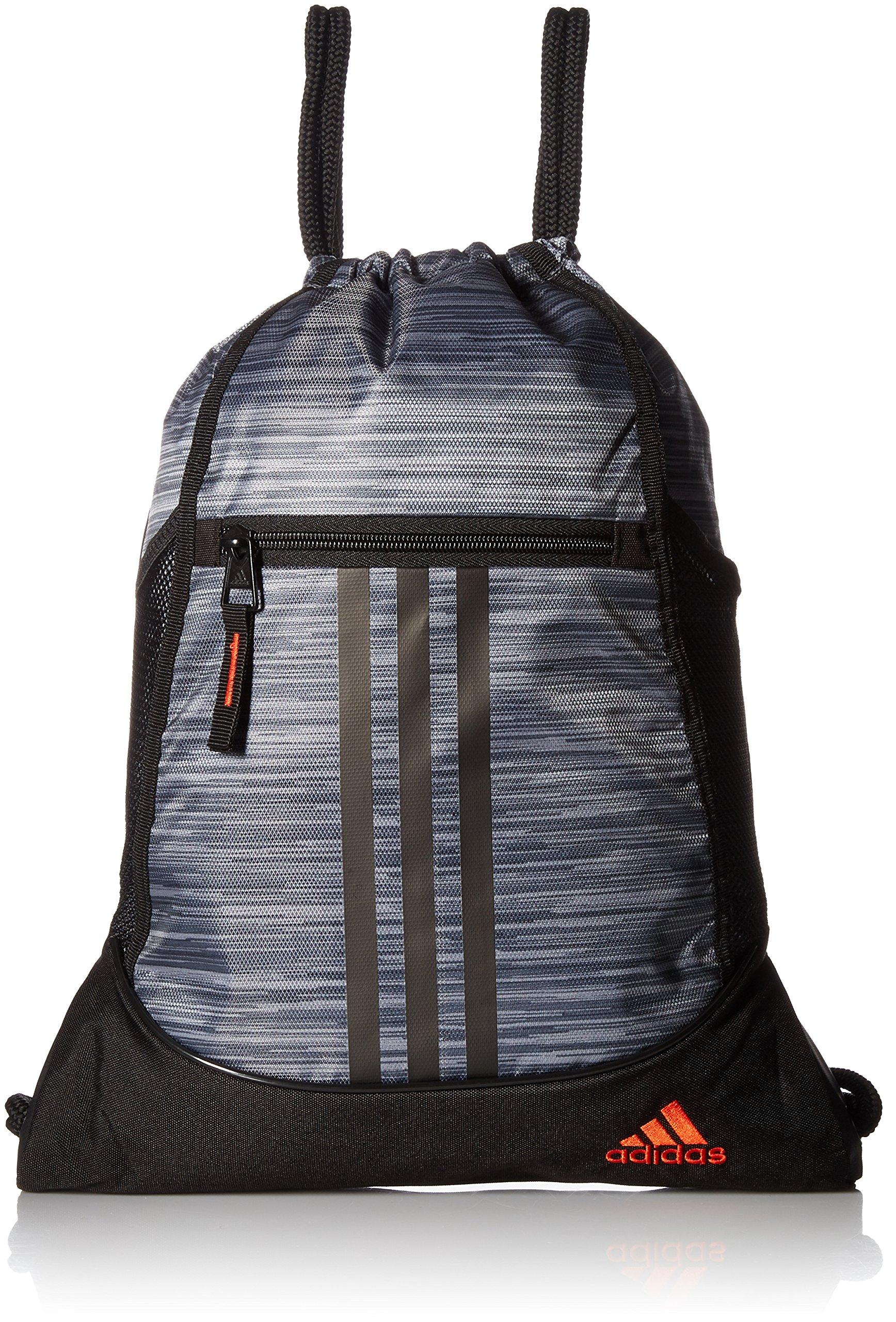 adidas Alliance II Sack Pack, One Size, Onix Looper/Black/Blaze Orange