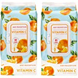 Body Prescriptions - 2 Pack (60 Count Each) Vitamin C Facial Cleansing Wipes