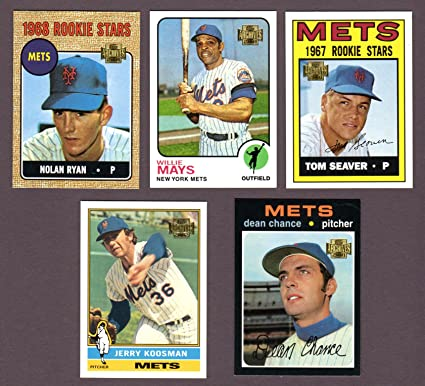 New York Mets 5 Card Heros And Hall Of Famer Reprint