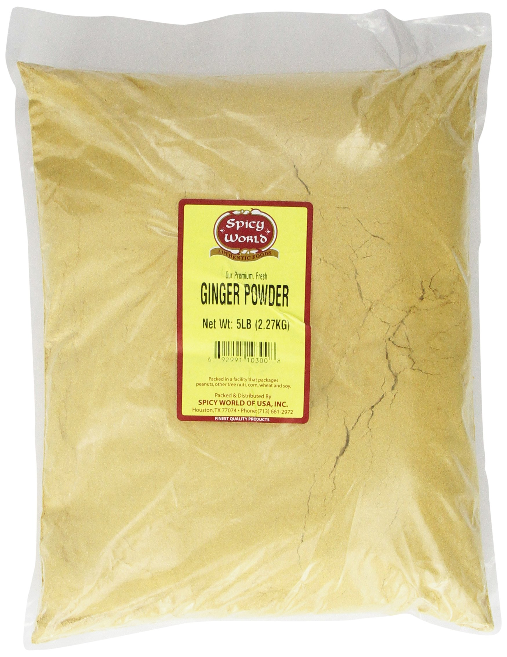 Spicy World Ginger Powder (Ground), 5-Pound