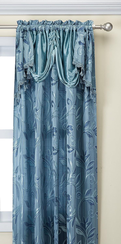 Amazon.com: Elegance Linen Beautiful Design Jacquard Curtain Panels ...
