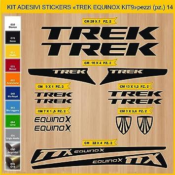 Kit Pegatinas Stickers Bicicleta Trek Equinox - Kit 9-14 Piezas- Bike Cycle Cod. 0904 (070 Nero): Amazon.es: Deportes y aire libre