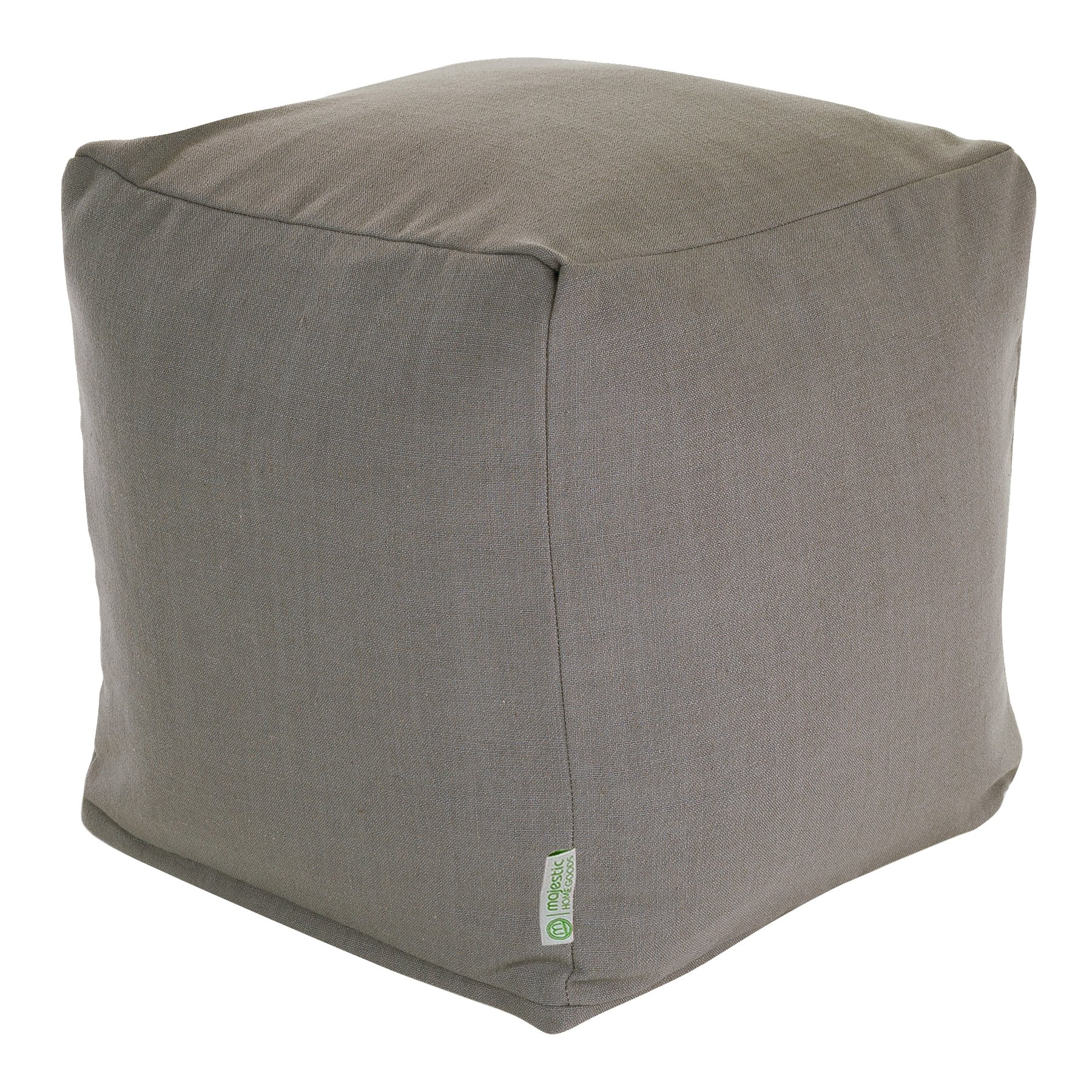 Majestic Home Goods Gray Wales Indoor Bean Bag Ottoman Pouf Cube 17'' L x 17'' W x 17'' H by Majestic Home Goods