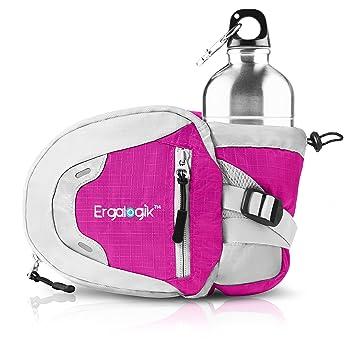 268700b88 ErgaLogik Day Trekker - Hiking Waist Pack with Water Bottle (Not Included)  Holder - Fanny Pack - Dog Walking ...