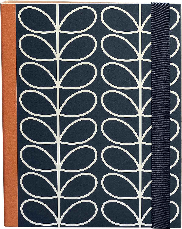 NEW Orla Kiely Linear Stem 12 Count Boxed Designer Binder Clips Pink /& Green