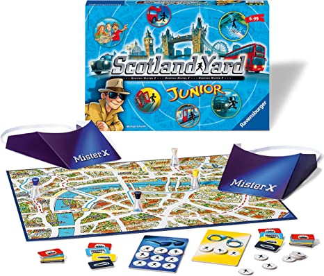 Ravensburger Scotland Yard Junior – «The Hunt for Mr X»: Amazon.es: Juguetes y juegos