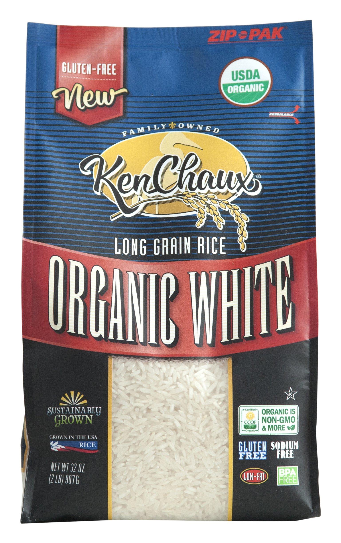 KenChaux Long Grain White Rice, Organic, 32 Ounce