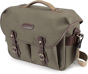 Billingham Hadley Pro Camera Bag Sage FibreNyte with Camo Front//Chocolate Leather