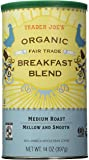 Trader Joe's Organic Fair Trade Breakfast Blend Whole Bean Coffee, 14 Ounce