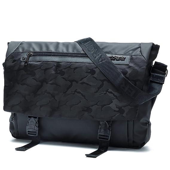 ce8bfba46 Mlife Bolsa para hombres de lona, estilo cartero con varios bolsillos,  Mediano, Black