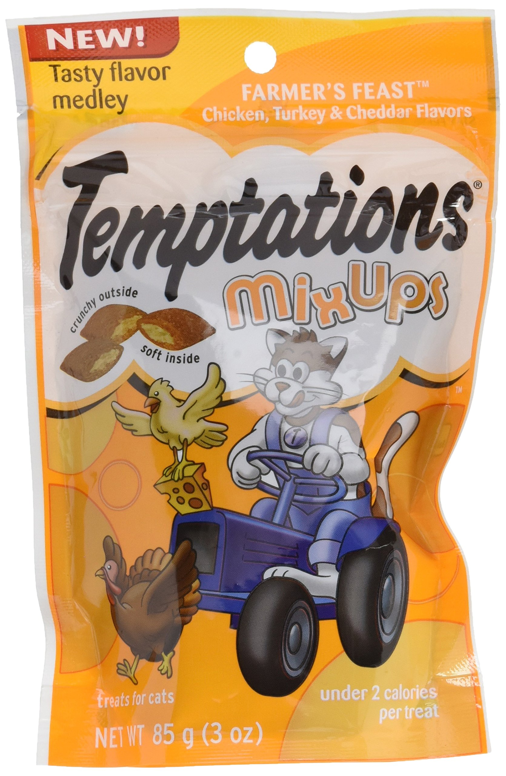 Dogswell Whiskas Temptations Mixups Farmer's Feast 3 ounces Food, 1 Pack by DOGSWELL