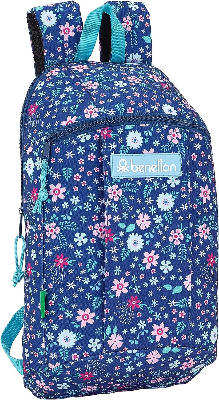 Safta /Benetton UCB In Bloom Blue Oficial Mini Mochila Uso Diario 220x100x390mm
