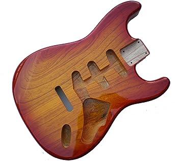 Sienna Sunburst de guitarra eléctrica Stratocaster cuerpo - 2 piezas American, madera de aliso: Amazon.es: Instrumentos musicales