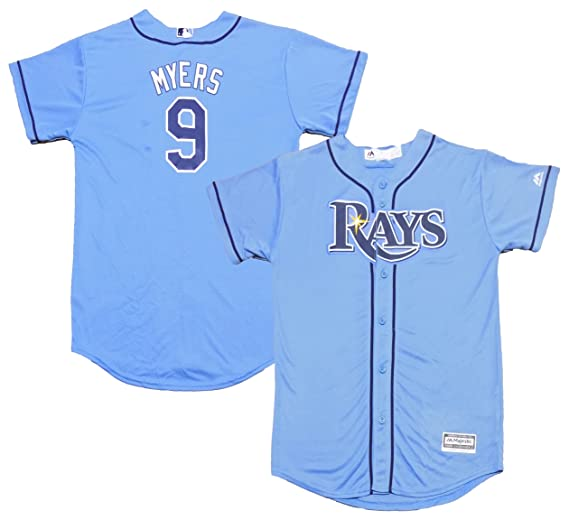 detailed look 93710 01605 Amazon.com: Wil Myers Tampa Bay Rays Light Blue Youth Cool ...
