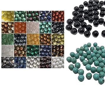 8mm Schmuck DIY Farbauswahl Edelstein Perlen Rondelle JADE Halbedelstein 6mm