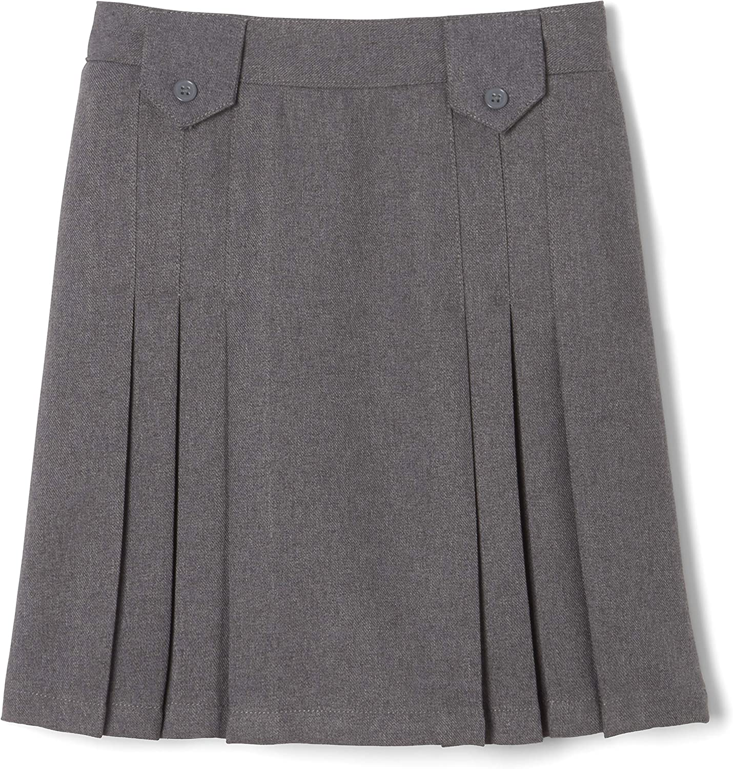 French Toast Girls' Front Pleated Skirt with Tabs: Clothing