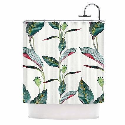 KESS InHouse DLKG Design QuotAnaquot Black Olive Shower Curtain