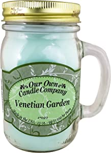 Our Own Candle Company Venetian Garden Scented 13 Ounce Mason Jar Candle